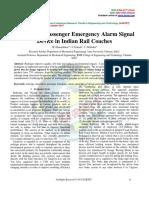 Redesign of Passenger Emergency Alarm Signal