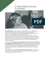 20 de Sfaturi de La Maria Montessori Pe Care Trebuie Sa Le Știe Toti Parintii