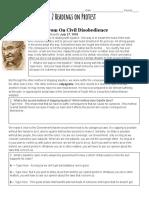protest speeches worksheet