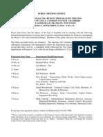 Budget Public Mtg Agenda 91510