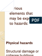 Various Elements That May Be Exposed to Hazards