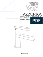 Install Sink Mixer Instructions Azzurra