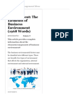 Business Environment_ the Elements of Business Environment (1968 Words)
