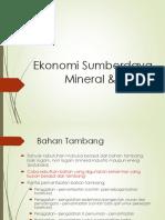 Ekonomi Sumberdaya Mineral & Energi