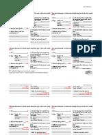 FSMQ Sports Questionnaire Responses