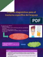 Criterios diagnósticos para el trastorno específico del lenguaje