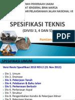 Presentasi Spek. Teknis (Divisi 3,4, Dan 5) Rev. 1