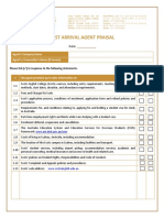 7. Post Arrival Agent Appraisal
