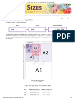 PublishMe Standard Book Sizes Inside Page Specs