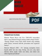 Pengantar Akuntansi II Piutang