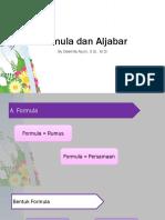 1a - Formula Dan ALjabar