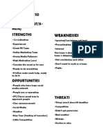 TEDxNED Recruitment SWOT Analysis!.docx
