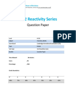 10.2 Reactivity Series Qp