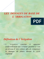 Cours Irrigation