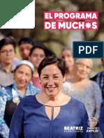 Programa Beatriz Sanchez