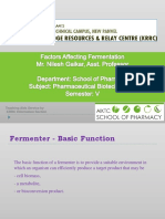 Factors Affecting Fermentation