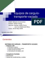 Curso Equipos de Carguío-Transporte-Vaciado