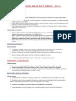 PLANIFICACION ANUAL DE 5º 2016 (2).docx