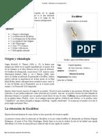 Excálibur - Wikipedia, La Enciclopedia Libre