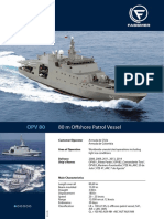 Fassmer 80m Offshore Patrol Vessel Technical Data