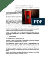 Starbucks Caso Practico Cadena de Valor