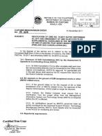 Bureau of Customs CMO 27-2017 Revocation of CMO No. 19 Dtd Sept 22 2017 and Amendment of CMO 53 2010