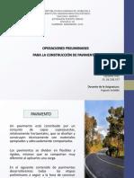 Operaciones Preliminares Para La Construccion de Pavimentos