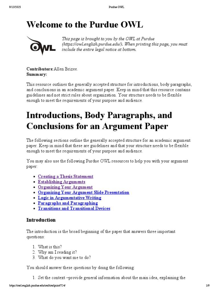 Purdue owl research paper