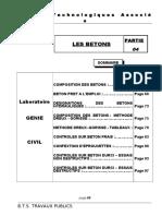 Cours Labo Partie 4 Les Betons
