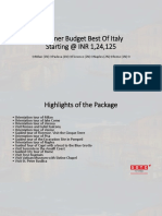 Summer Budget Best Of Italy With SOTC Holidays