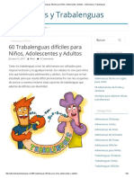 60 Trabalenguas Difíciles Para Niños, Adolescentes y Adultos – Adivinanzas y Trabalenguas