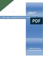 Timetable Admin Manual