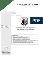 US Fisika Paket D Final