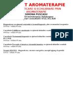 Tarife Servicii Cabinet Aromaterapie - AVIZIER 03.2017