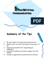 Effective Written Communication