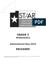 Staar g3 2016test Math f