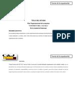 Plan Organizacional to 2015