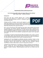 AfPE Statement