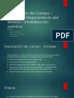 Exploracion de Campo y Mejoramiento Del Terreno