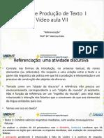 VA 7 - Referenciação e Progressão Referencial-A