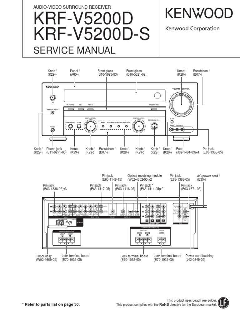 kenwood krf v5200d krf v5200d s service manual