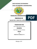 PRACTICA N° 02 CONTROL FISICO - QUIMICO DE LA LECHE