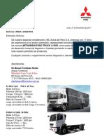 Carta de Presentación Camiones Fuso