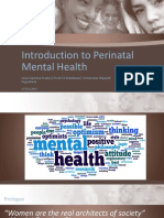 Introduction to Perinatal Mental Health MMid2017