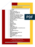 Marine Technic Test Equipment
