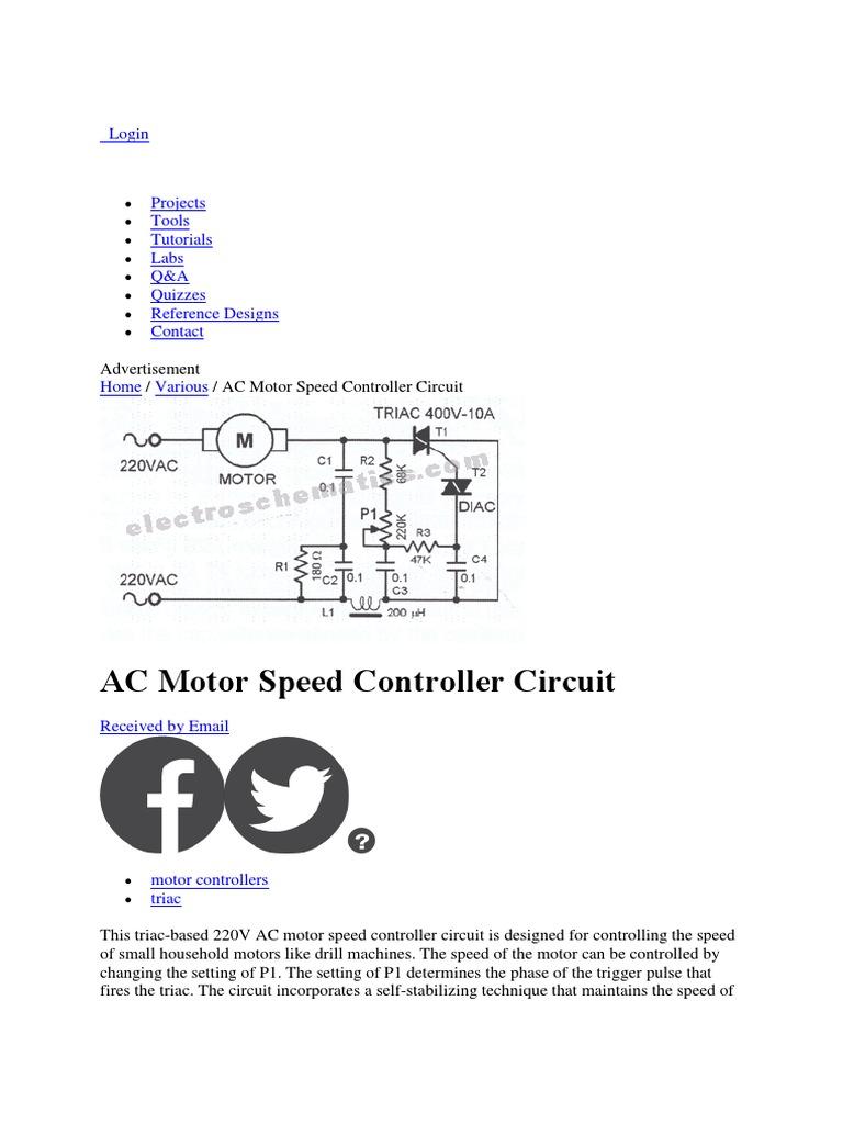 Motor Speed | Electronic Engineering | Electronics