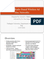 Cognitive Radio Based Wireless Ad Hoc Networks
