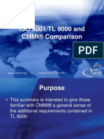 TL 9000 and CMMI Comparison