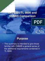 TL 9000 and CMMI Comparison