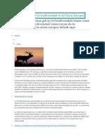 Conservación de La Biodiversidad en La Unión Europea
